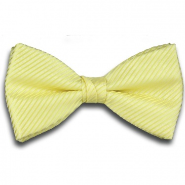 Yellow Bow Tie with Stripe